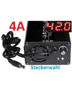 Schnell Ladegerät 36V 4A Elektrofahrrad Pedelec Li-Ion eBike 42V 4A mit LED