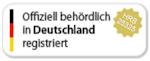 Offiziell behördlich in Deutschland registriert
