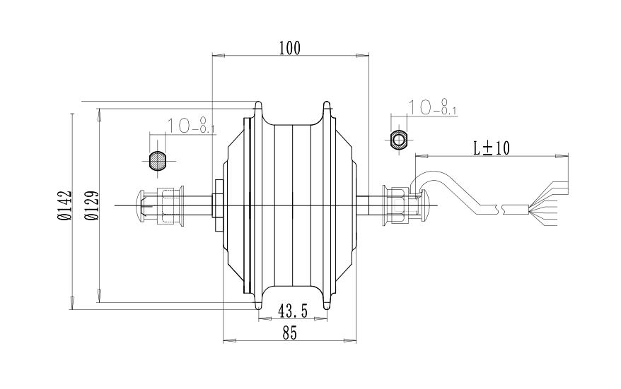 Abmessungen eBike Motor